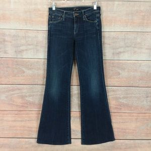 Mother The Wilder Here Kitty Flare Leg Jeans Sz 27